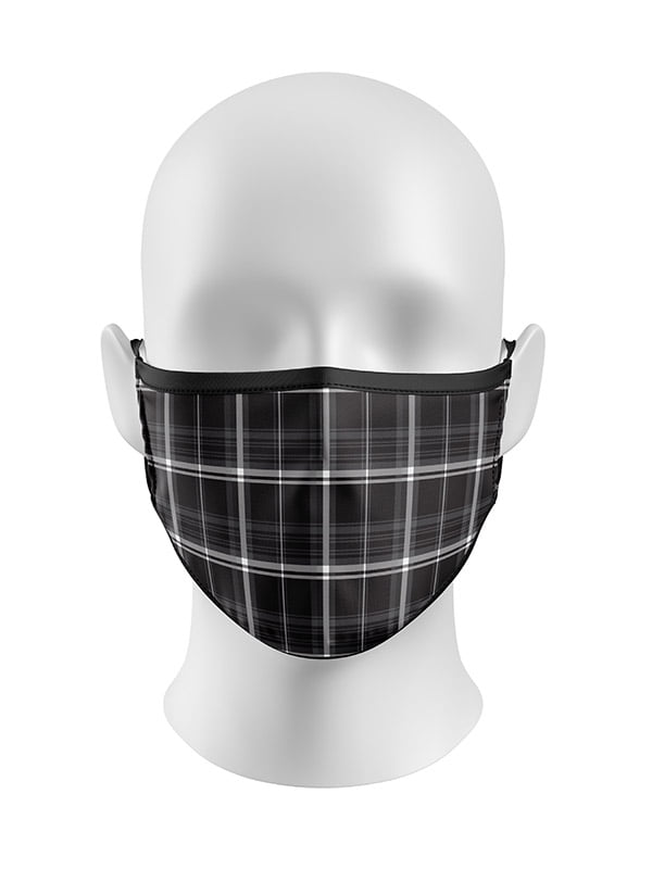 New Black Gingham Face Mask