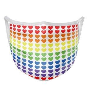Rainbow Hearts Active Face Mask
