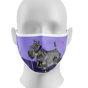 Scottie Dog Face Mask