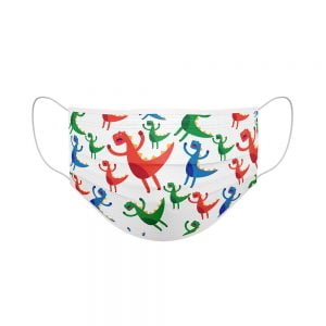 dinosaurs childrens face mask