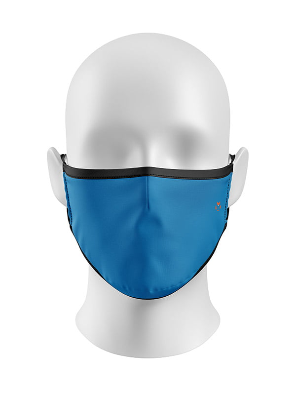 Bright Crips Blue Solid Colour Mask
